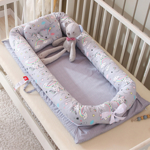 New Portable Baby Bionic Bed Cotton Cradle Baby Bassinet Bumper Folding Sleep Nest for Toddler Newborn Play Mat Travel Bed