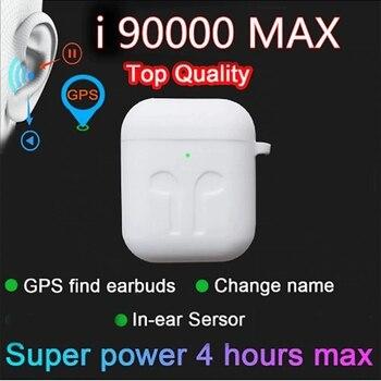 Nowy i90000 MAX TWS bezprzewodowe słuchawki Air2 zmień nazwę Bluetooth 5.0 słuchawki słuchawki douszne Super Bass czujnik douszny PK i90000 i99999 TWS
