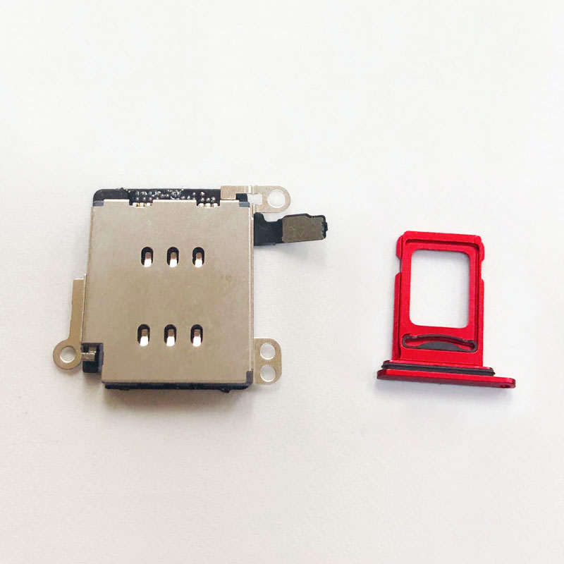 Replacement For IPhone XR Dual SIM Card Reader Flex Cable +SIM Card Tray Holder Slot Adapter