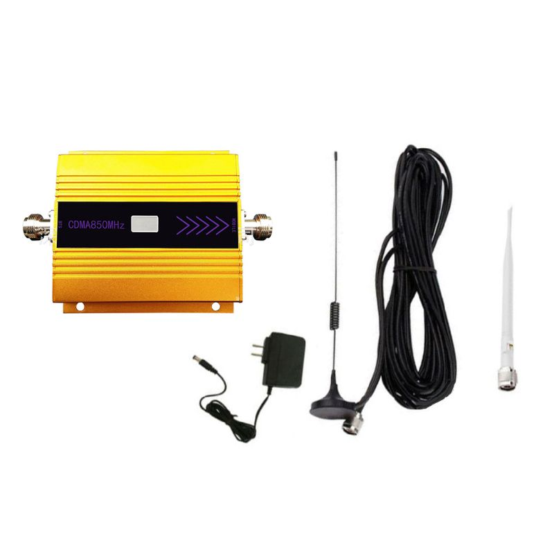 <font><b>850mhZ</b></font> <font><b>GSM</b></font> 2G/3G/4G Signal Booster <font><b>Repeater</b></font> Amplifier Antenna US Plug for Mobile Phone image