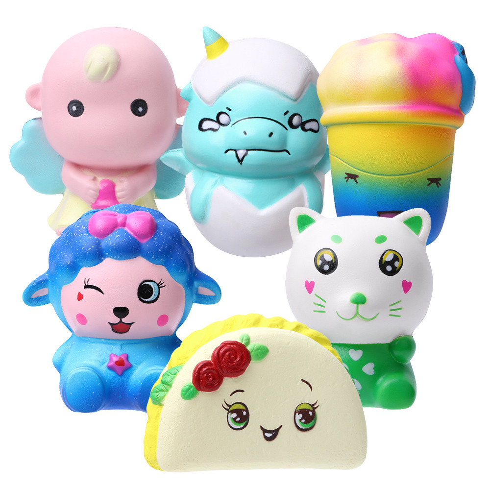 Mini Toy Antistress Jumbo Slow Rising Squishies Scented Cake Squeeze Toy Stress Reliever Charm Toys Funny Gift L107