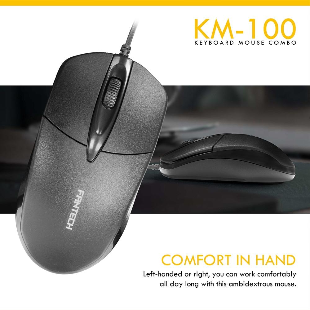 Fantech KM100 USB Keyboard Mouse Combo Black 7