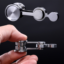 Pop Foldable Metal Fidget Toys Antistress Hand Spinner Adult Stress Relief Double Pendulum Portable Toy For Children Gift