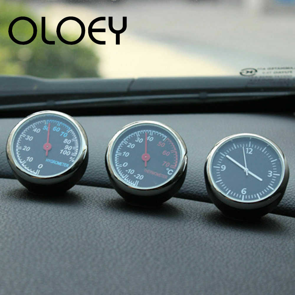Mini Auto Auto Digitale Klok Auto Horloge Automotive Thermometer Hygrometer Decoratie Ornament Klok In Auto Accessoires