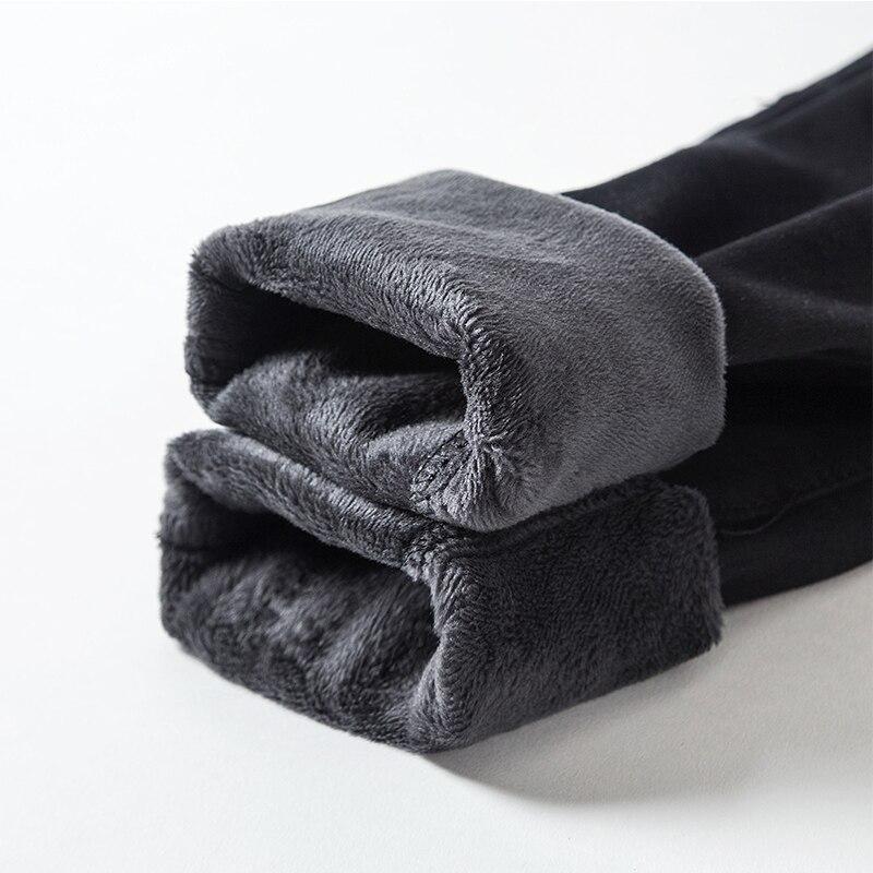 2019 New Winter Jeans Ladies Korea High Waist Plus Velvet Skinny Jeans Cowgirl Street Clothing Thick Warm Winter Feet Pants