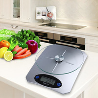 5Kg/11lbs x 1g/0.1oz Digital Kitchen Scale Glass Top Food Diet Scale Home Kitchen Scales    -