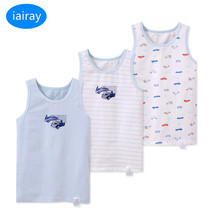 iairay 3pcs/set summer cotton tank top for boys white singlet kids boy sleep shirt sleeveless undershirt vest children underwear