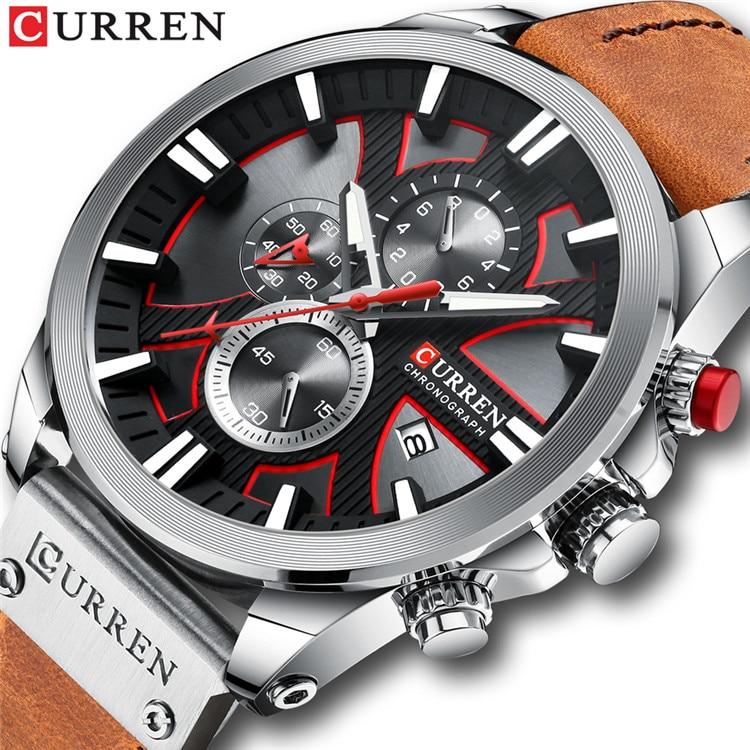 New CURREN Men Watches Fashion Quartz Wrist Watches Men's Military Waterproof Sports Watch Male Date Clock Relogio Masculino 11