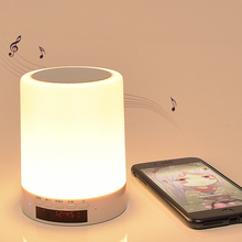LED Night Light Rechargeable Touch Control With Bluetooth Stereo And Alarm Function Intelligent Dimmable RGB Color Change