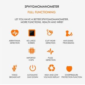 Image 3 - Rosyjski głos nadgarstka tonometr sprzęt medyczny Monitor ciśnienia krwi aparat do pomiaru ciśnienia urządzenia