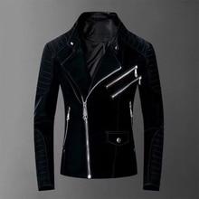 Jacket Plein Chaqueta-De-Cuero Skull Para Autumn Winter Man Punk Fashion PP Coat Hip-Hop
