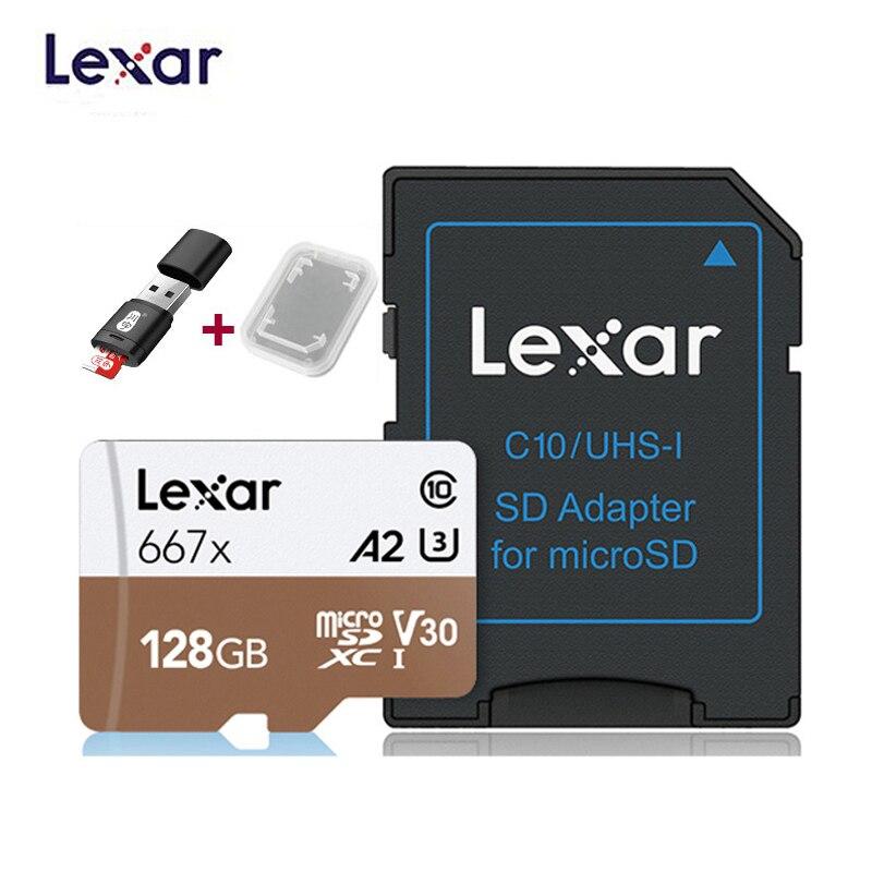 2020 nuevo Lexar profesional 667x micro SDXC UHS-I tarjetas tarjeta de memoria SD de 64GB y 128GB 256GB U3 V30 A2 100 MB/s leer 90 MB/s escribir