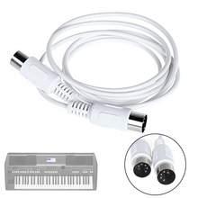 1.5m/4.9ft 3m/9.8ft cabo de extensão midi 5 pinos macho a 5 pinos instrumento de teclado de piano elétrico masculino cabo de computador cabo midi