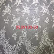 Wholesale  Chantilly Eyelash Lace Garment Soft French  Tulle Lace For Wedding Dress 9 Yards