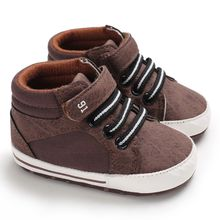 2019 Fashion Newborn Baby Boy Girls Soft Sole Crib Shoes Warm Boots Anti-slip Sneakers 0-18M First Walkers(China)