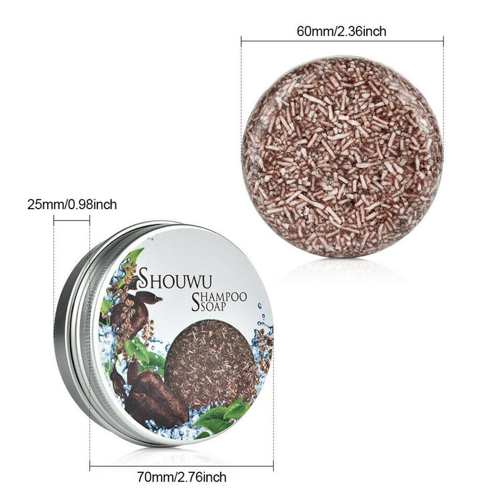 Grey Reverse Shampoo Bar Polygonum Multiflorum Essence Hair Darkening Shampoo Soap B88