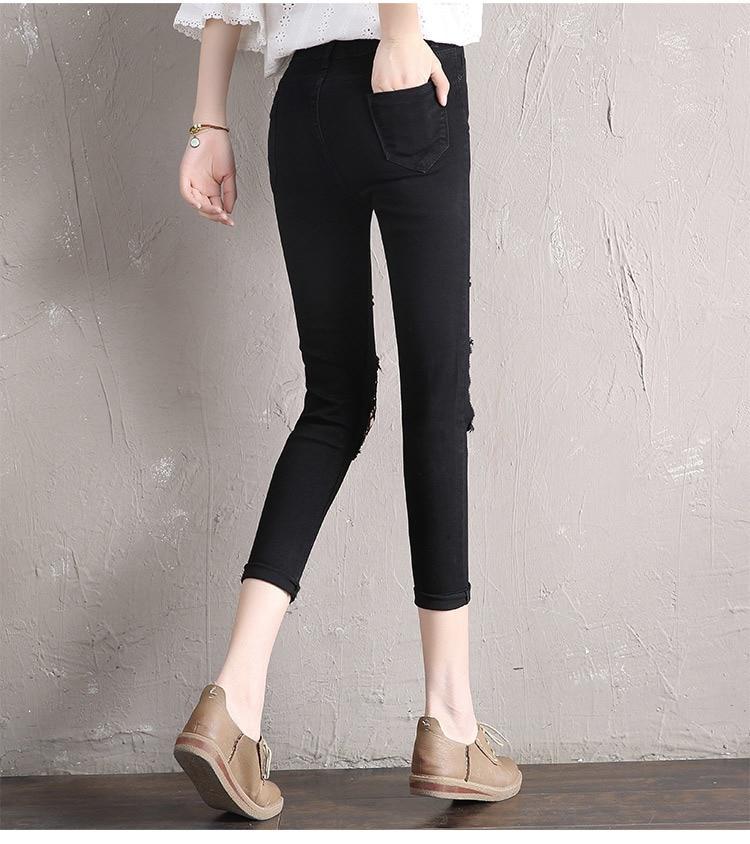 Slim Jeans For Women New 2020 Blue Denim Pencil Pants Sex Net Femmen Trousers Fit Lady Jeans Hot Sale Plus Size LX1698