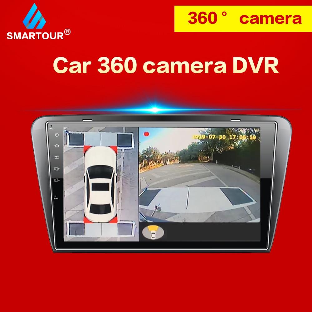 Smartour HD 2D auto 360 della macchina fotografica di Parcheggio Surround Sistema di Visione di Guida Con Sistema di Vista Uccello Panorama 4 Videocamera Per Auto Auto DVR
