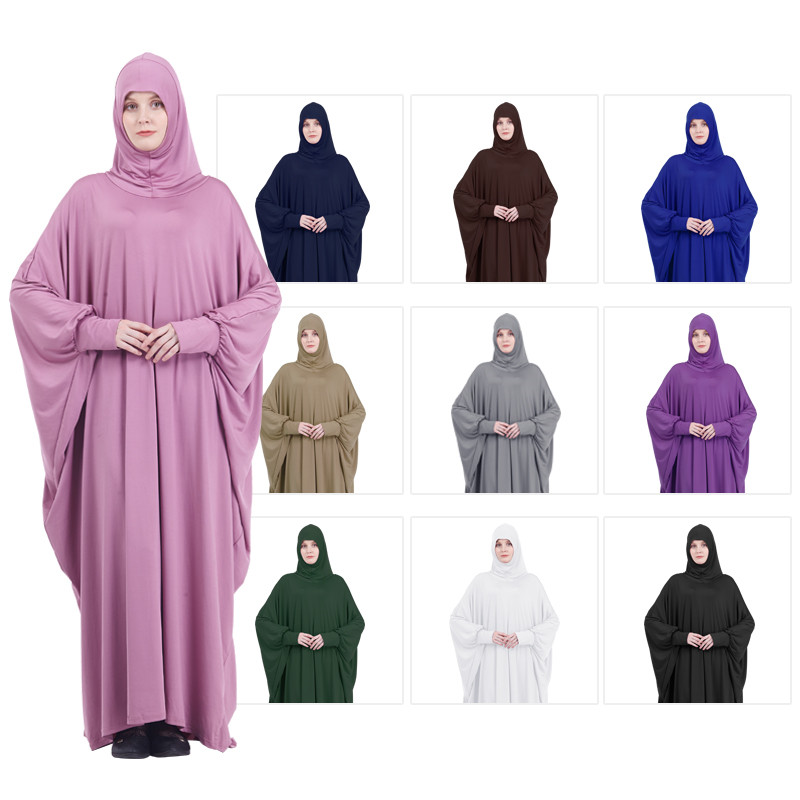 Ramadan Islamic Clothing Prayer Dress Women Formal Muslim Garment Hooded Dubai UAE Turkey Namaz Long Jurken Abaya Hijab Kimono