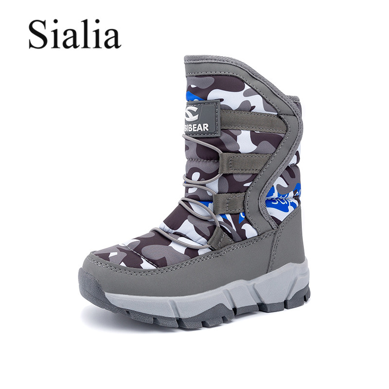 Sialia Winter Children Boots For Kids Shoes Boys Snow Boots Girls Shoes Plush Warm Waterproof Anti-slippery Bota Infantil 2020