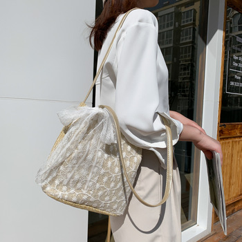 Feminine Small Straw Bag Women Wicker Rattan Female Summer Beach Circle Bohemia Woven Crossbody Bags Ladies Handmade Handbag