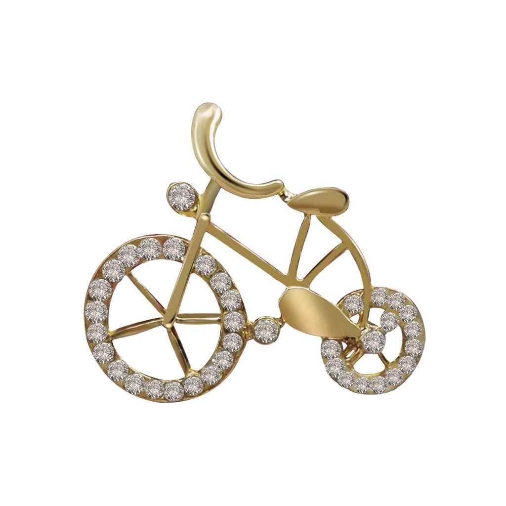 Kreatif Korsase Bros Pin Sepeda Bentuk Perhiasan Dekorasi untuk Mantel Enamel Pin Brocade Pin Logam Bros untuk Wanita Broszka