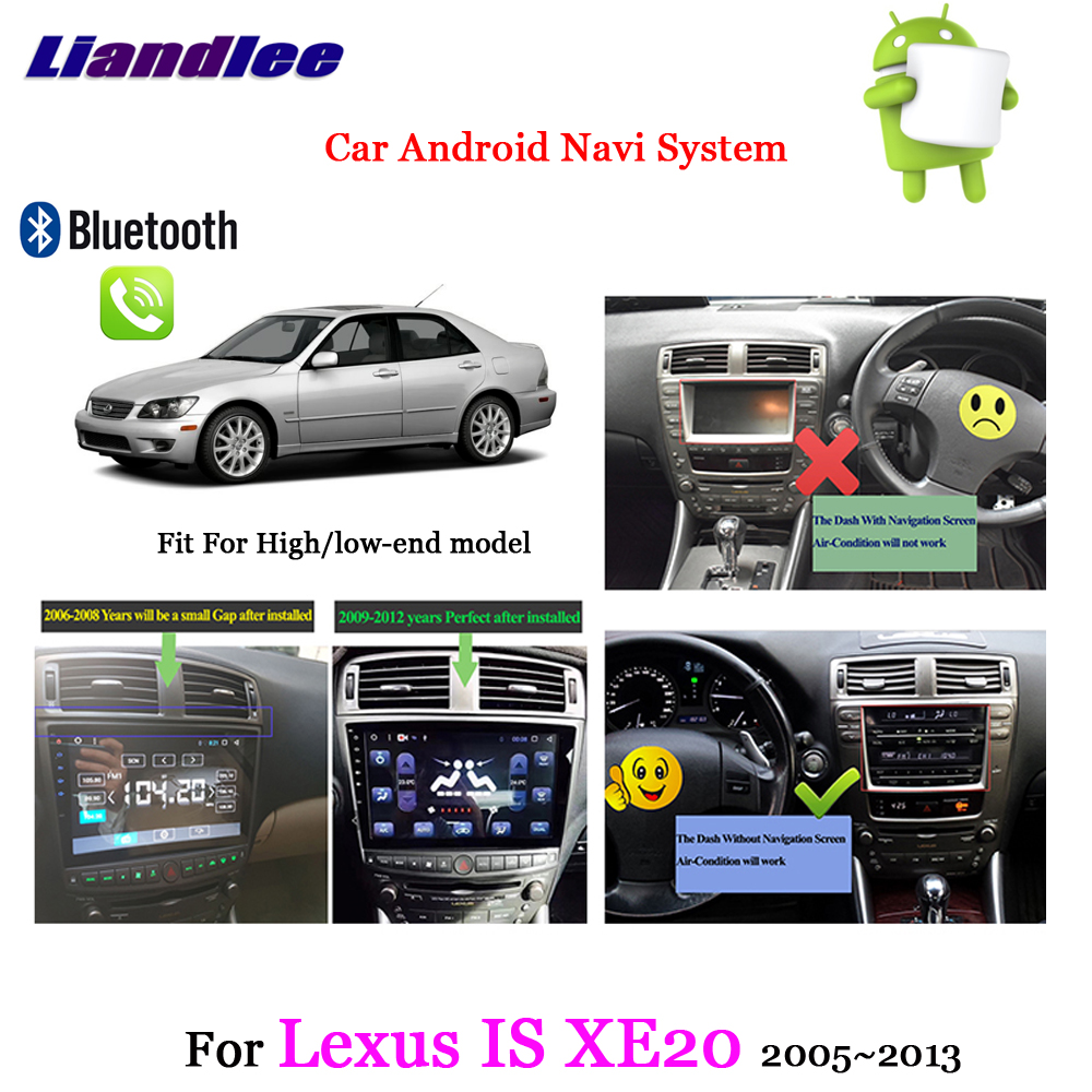 Car Android GPS Navigation System Multimedia Player For <font><b>Lexus</b></font> <font><b>IS</b></font> XE20 2005 2006-<font><b>2010</b></font> 2011 2012 2013 Radio AM FM RDS HD Screen TV image