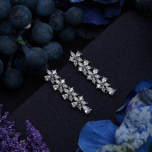 Image 5 - תכשיטי סט HADIYANA Tempartment נשים חתונת יש עוסק שרשרת עגילי טבעת וצמיד סט זירקון CNY0083 Bisuteria