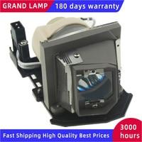 Compatível lâmpada do projetor com habitação sp.8lg01gc01 para optoma ds211  dx211  es521  ex521  opx2630  pj666  pj888  rs515