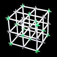NaCl кристаллическая структурная химическая модель хлорид натрия химические модели школьный университет лаборатория учебное оборудование 1 комплект