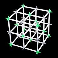 Nacl cristal química estrutural modelo de cloreto de sódio modelos químicos escola universidade laboratório equipamentos de ensino 1 conjunto|Química| |  -