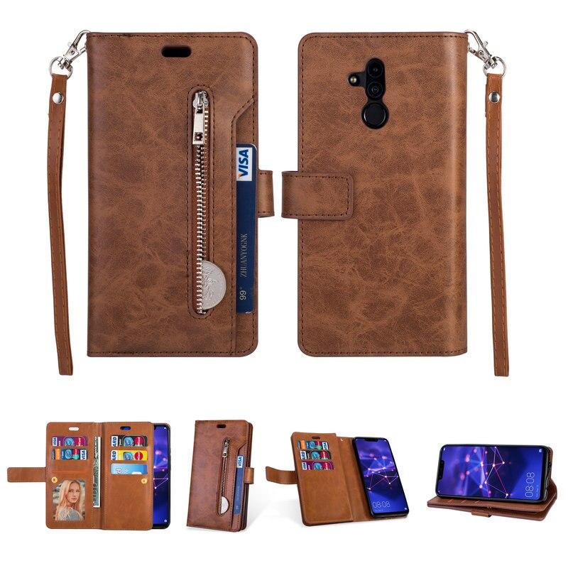 Luxus Zipper Brieftasche für Huawei P30 Lite Flip Fall Funda Huawei Mate 20 Lite Case-Mate 20 Pro Abdeckung Huawei p30 Pro Fall P20 Lite