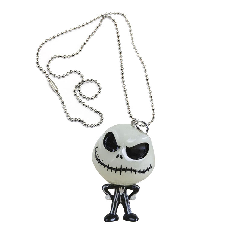 <font><b>The</b></font> Nightmare Before Christmas <font><b>necklace</b></font> Jack Skellington keyring Hanger mask <font><b>The</b></font> head <font><b>glowed</b></font> <font><b>in</b></font> <font><b>the</b></font> <font><b>dark</b></font> figure toy pendants image