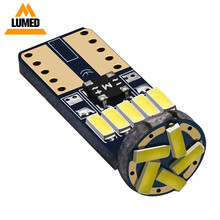 100x t10 w5w led wy5w 15 lâmpadas 194 168 led 4014 smd super brilhante luz interior do carro afastamento lado marcador auto lâmpada 12v