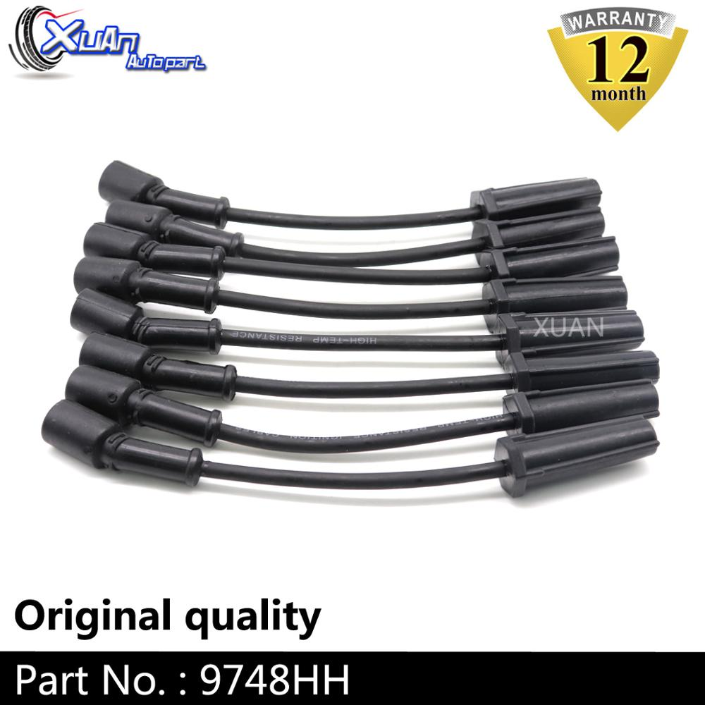 XUAN Ignition Spark Plug Wire Kit Set Cable 9748HH For CADILLAC ESCALADE CHEVROLET AVALANCHE SILVERADO SUBURBAN TAHOE GMC HUMMER
