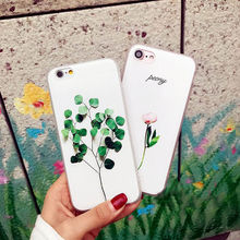 Luxury Cute 3D Floral Leaves Pattern Case Cover For iPhone 8 6 6S 7 Plus Rubber Soft TPU Silicone Phone Case for iphone 5 5S SE cute 3d rilakkuma silicone case cover for iphone se 5s 5 black