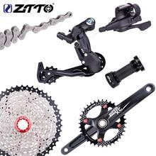 ZTTO велосипед MTB 9 скоростей кассета переключения заднего переключателя 1X9 горный велосипед Groupset один коленчатый набор система цепь группа н...