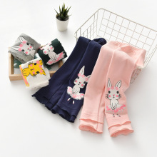 Штаны с оборками для девочек от 2 до 6 лет осенне-зимние плотные штаны для девочек Детские хлопковые тонкие теплые спортивные штаны Зимняя одежда для маленьких девочек