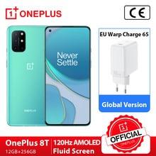 Version mondiale OnePlus 8T 8 T OnePlus Official Store Snapdragon 865 5G Smartphone 12GB 256GB 120Hz affichage fluide 48MP Quad caméras 65W Charge de distorsion; Code français: SUPERDEALSFR14(€100-14),SUPERDEALSFR07