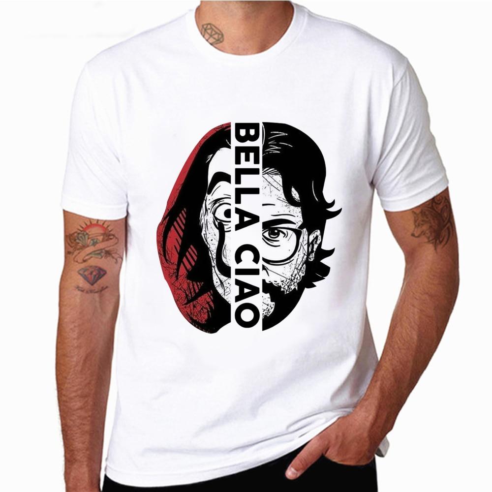 La Casa De Papel Men's T Shirts Money Heist TV Male Short Sleeve Tshirts  For Boys House Of Paper T-Shirt Men Tees T Shirt