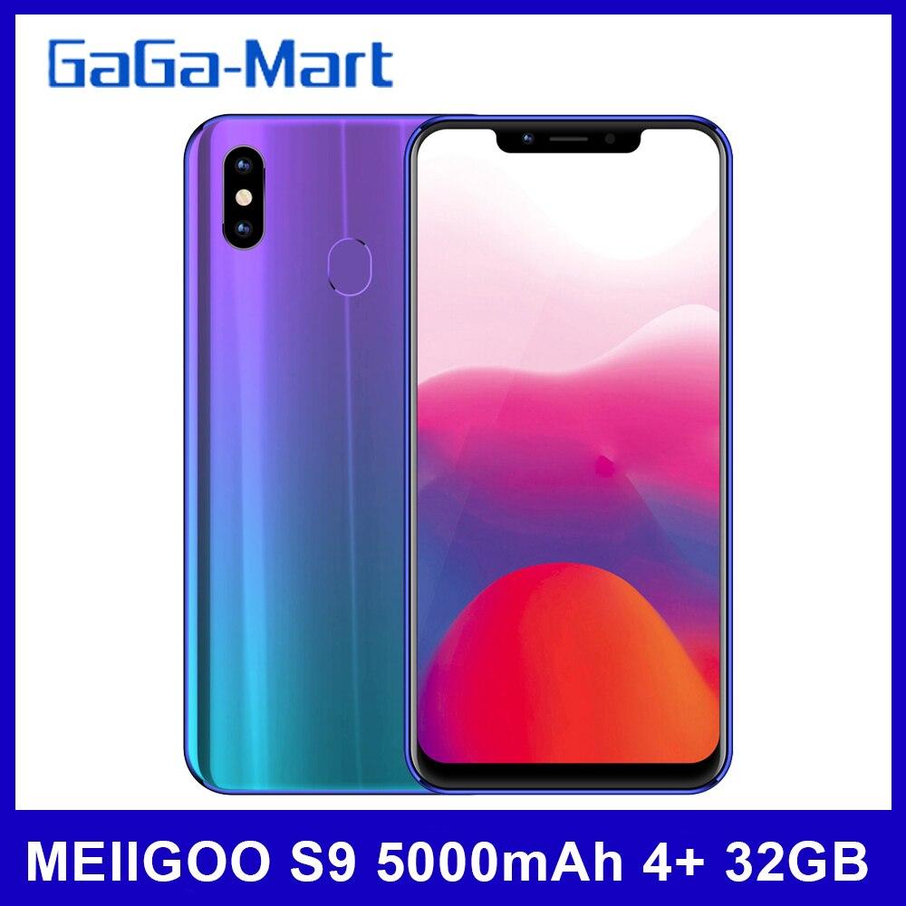 Смартфон MEIIGOO S9 на Android 5000, восемь ядер, экран 6,18 дюйма, 4 Гб + 32 ГБ