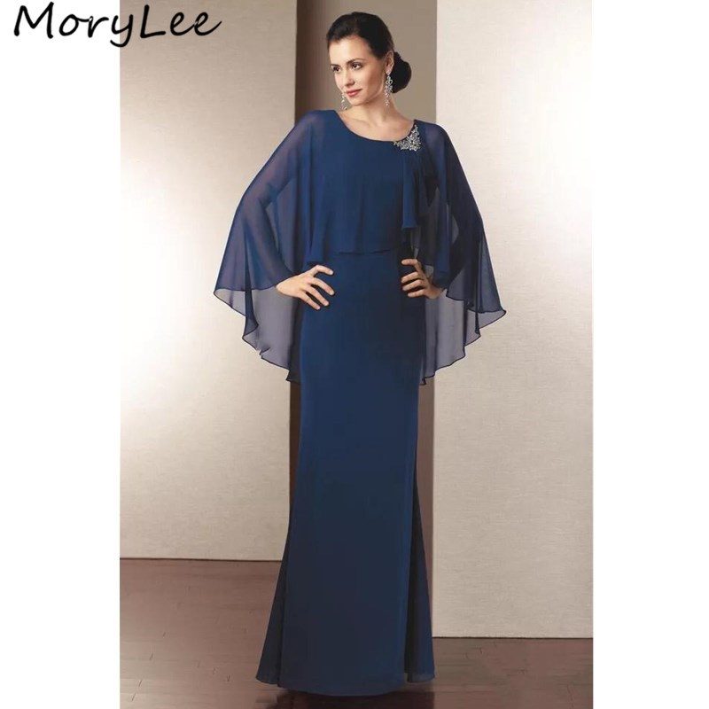 Chiffon Mother Of The Bride Dresses Special Design A-Line Floor Length Simple Wedding Party Mother Dresses With Zipper Back