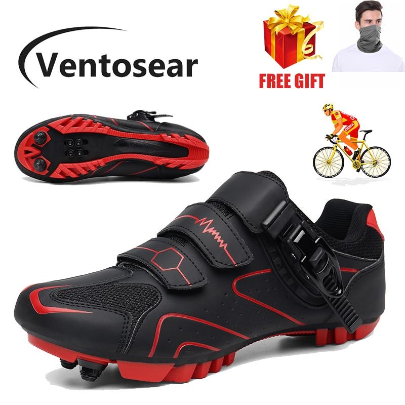 Ventosear Flat Speed Women SPD Road Triathlon Race Cycling Shoes Men MTB Mountain Cleats Dirt Biking Sneakers Male Bicycle Shoes