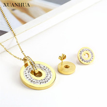 XUANHUA Stainless Steel Woman Jewelry Sets Indian Necklace Set Of Earrings For Women Jewell