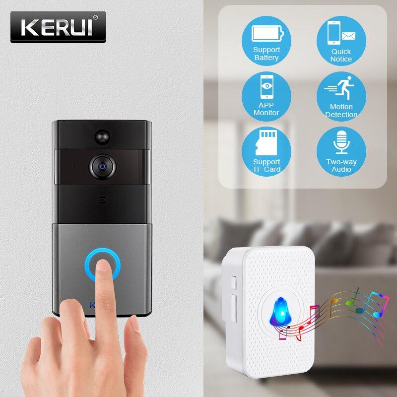 KERUI IP08 Smart Wireless WIFI Video Doorbell  Home Intercom 1080P IP Camera Two-Ways Audio Night Vision Phone APP Monitoring