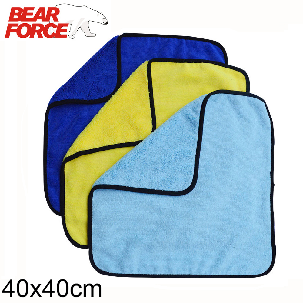 Super Absorbent Car Wash Microfiber Thick Towel Car Cleaning Drying Cloth Auto Car Care Cleaning Towel Wash Cloths 40*40cm(China)