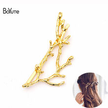BoYuTe (10 Pieces/Lot) Metal Alloy Elk Starfish Branch Leaf Hair Pins Fashion Women Jewelry Accessories Wholesale(China)