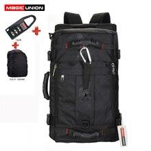 MAGIC UNION bolsos de viaje para hombre, mochila multifunción, impermeable, mochila Oxford para ordenador portátil, mochila antirrobo para acampar