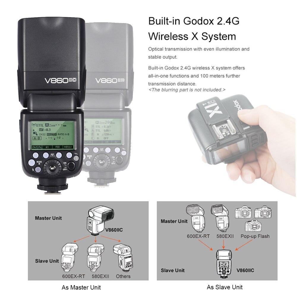 Camera & Photo Godox V860II-C TTL Flash 2.4G GN60 HSS 1/8000s High ...
