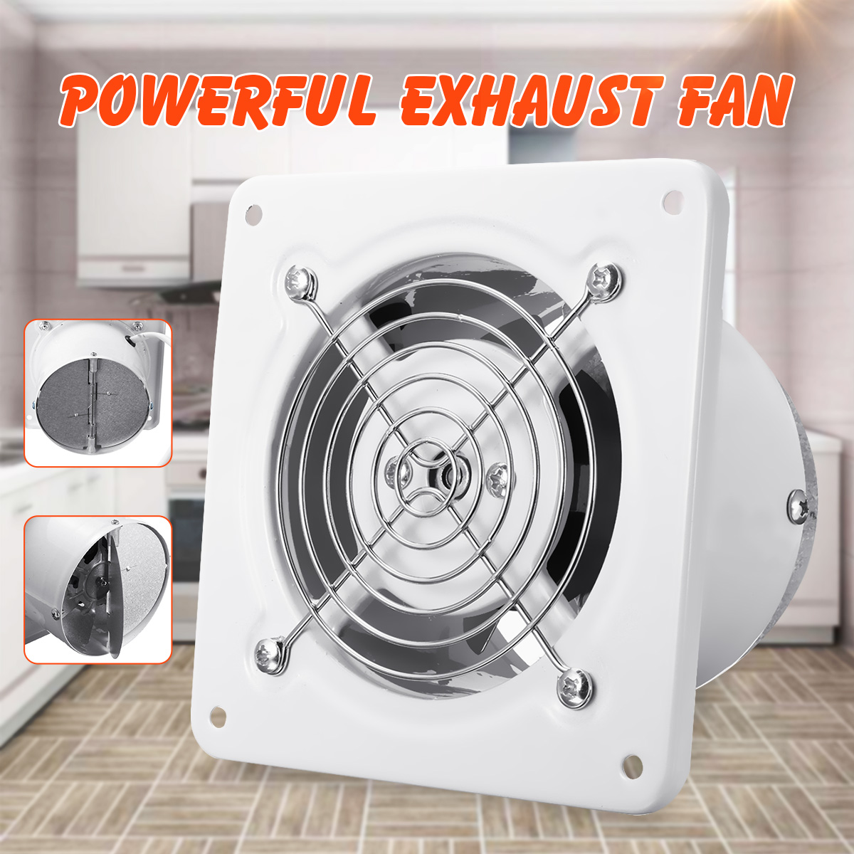 4 Inch 20w 220v Silent Exhaust Fan Kitchen Bathroom Toilet Window Wall Ventilation Exhaust Blower Air Cleaning Cooling Vent Fan